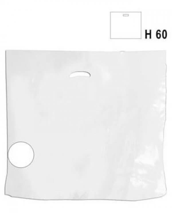 Ekstra stor hvid budget plastikpose