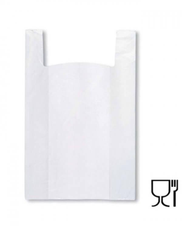 Hvid stor discount plastpose