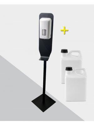 Dispenser på stander og hånddesinfektion 6L.gel