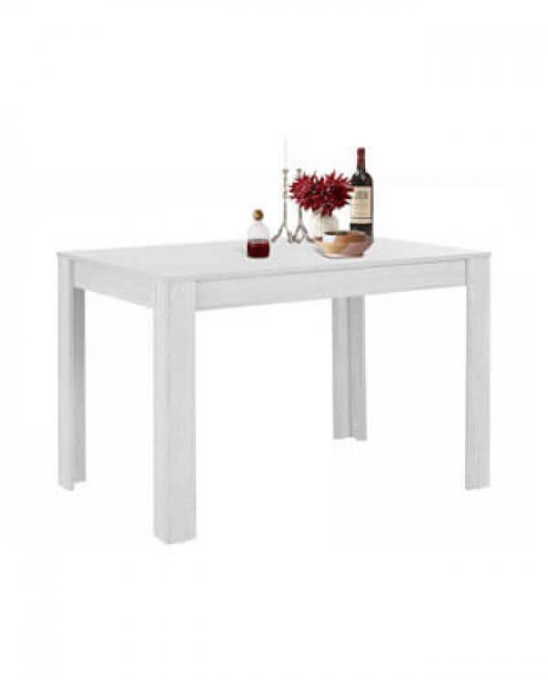Stort Maria spisebord i hvid