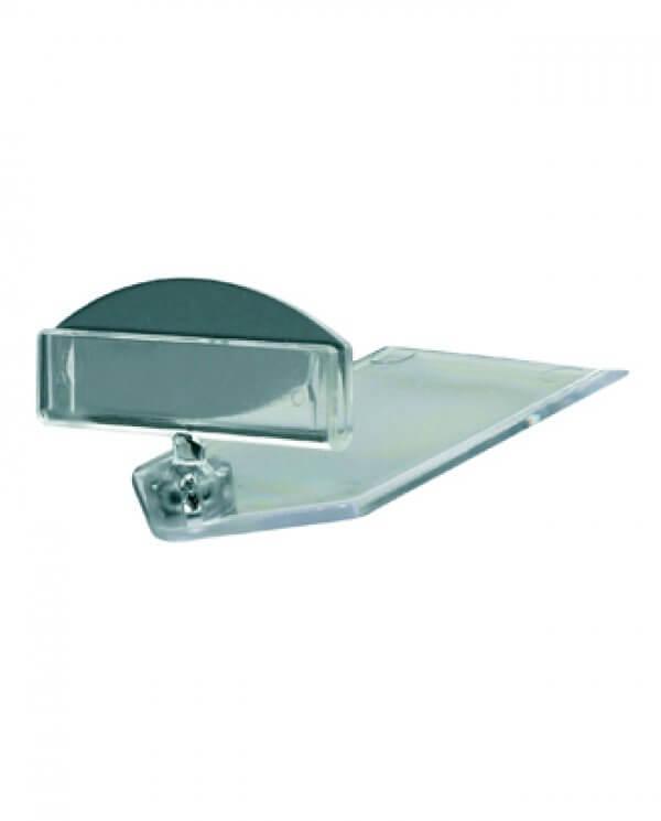 Clear-Grip lav skilteholder med bred holder