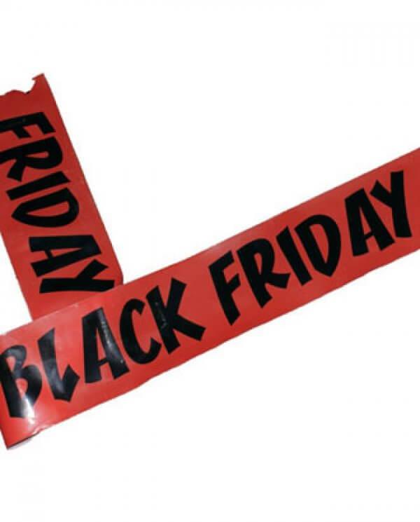 Black Friday afspærringsbånd