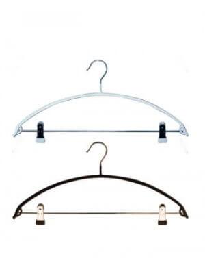 Buet strikbøjle i metal med klemmer (46 cm.)