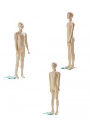 Leddelt mannequin, 10-11 ÅR - inkl. glasplade
