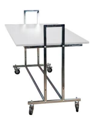 Gadebord - L10 - hvid bordplade