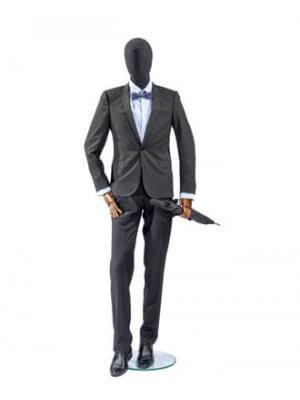 Herre mannequin - Sort torso - Vintage
