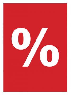 procent plakater rabat