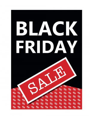 Poster plakat med Black friday