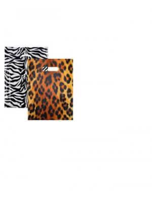 Plastposer med leopard- og zebratryk