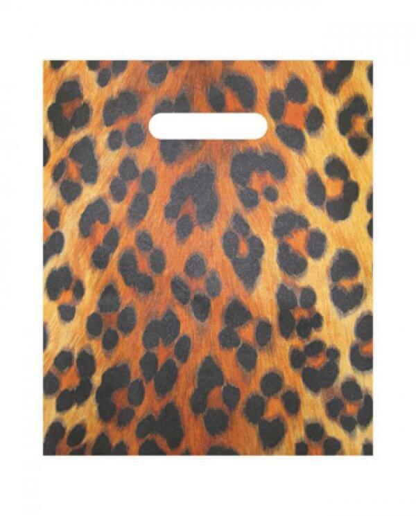 Mellem plastpose med leopardtryk