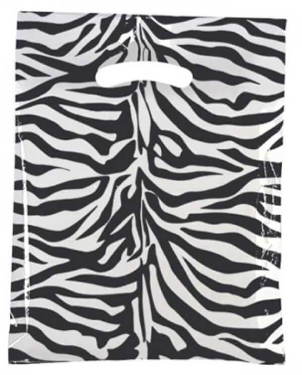 Mellem plastpose med zebratryk
