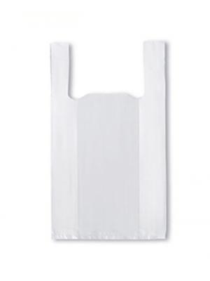 Hvid discount plastikpose