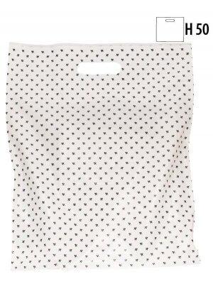 Plastikpose m/ blåt blad - Stor