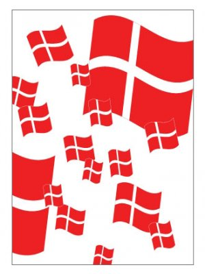 PLAKAT - Dannebrogs flag