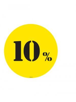 Poster - 10% - Ø50 cm.