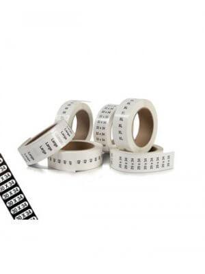 Størrelsesmærkater t/ bukser - 240 stk. pr. rl.