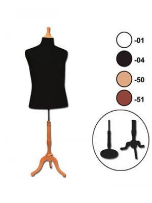 Fransk Herregine lang krop (XL) med sort betræk