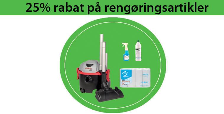 25% rengøring