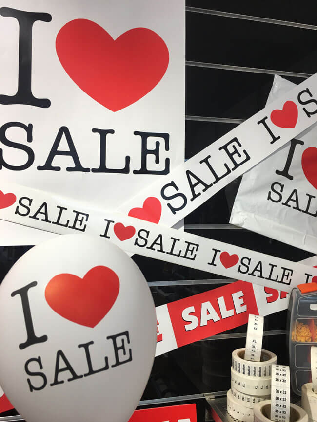 I LOVE SALE - skilte - SuperSellerS